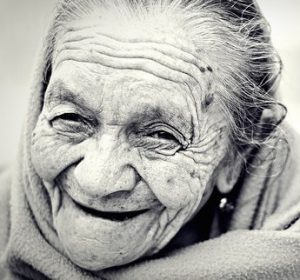 Old happy woman