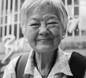 Smiling old Asian woman